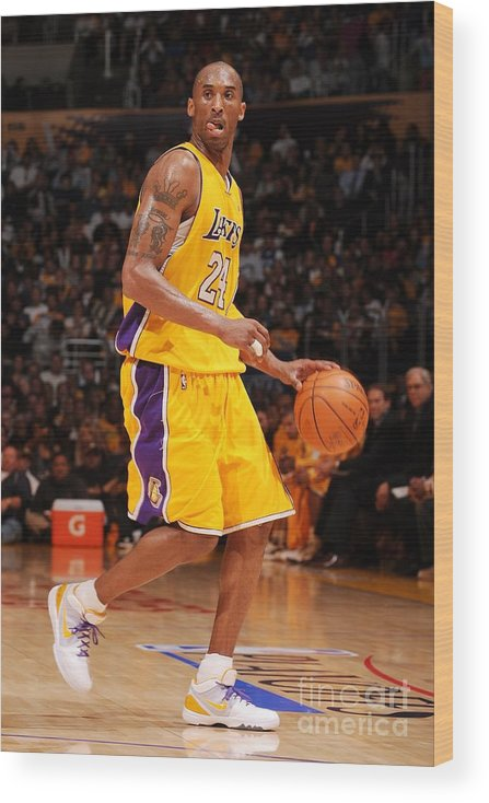 Playoffs Wood Print featuring the photograph Kobe Bryant by Noah Graham