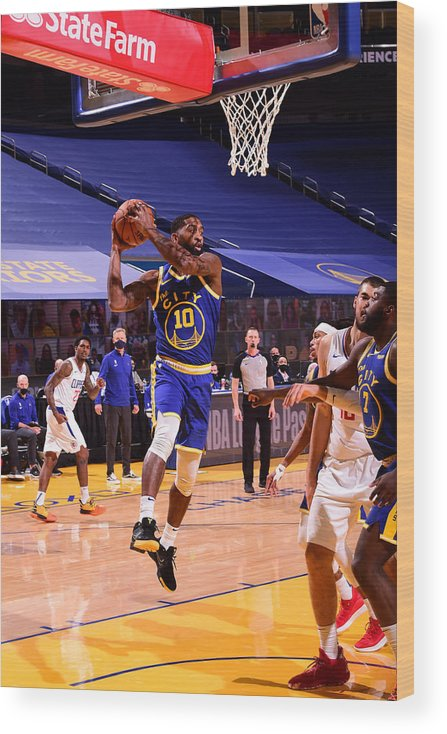 San Francisco Wood Print featuring the photograph LA Clippers v Golden State Warriors by Noah Graham