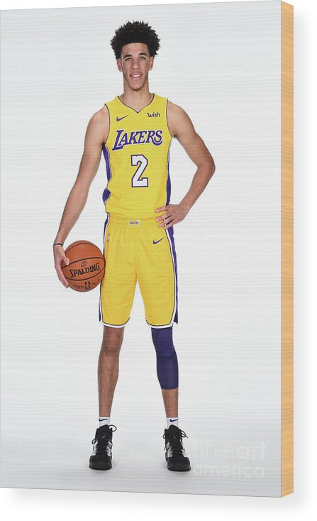 Media Day Wood Print featuring the photograph Lonzo Ball by Andrew D. Bernstein