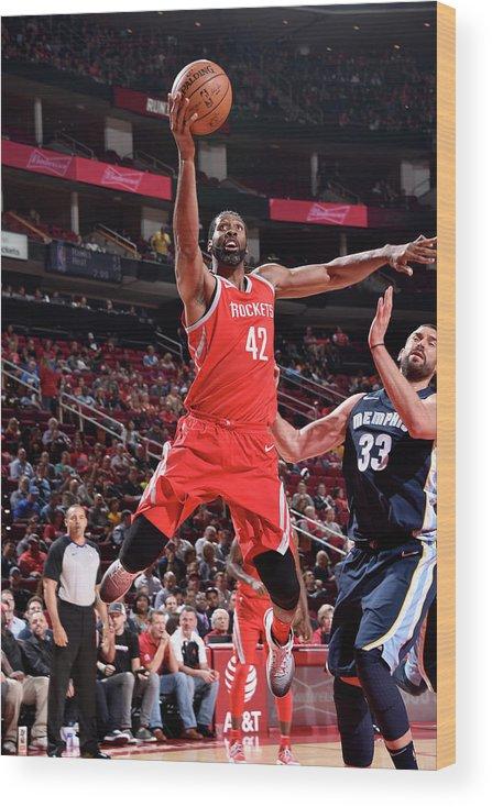 Nba Pro Basketball Wood Print featuring the photograph Nene Hilario by Bill Baptist