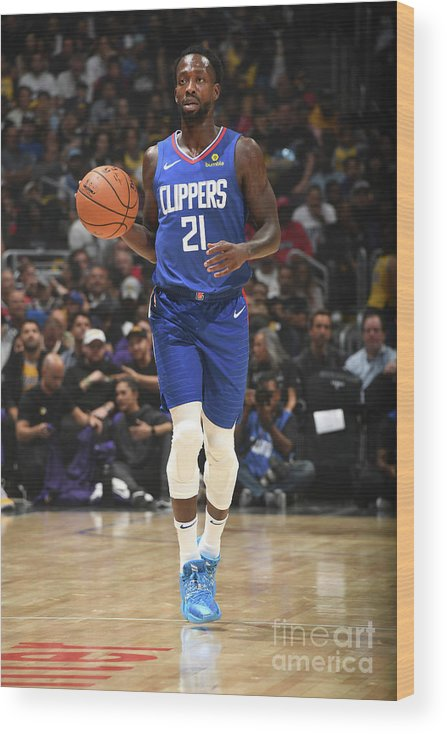 Nba Pro Basketball Wood Print featuring the photograph Patrick Beverley by Andrew D. Bernstein