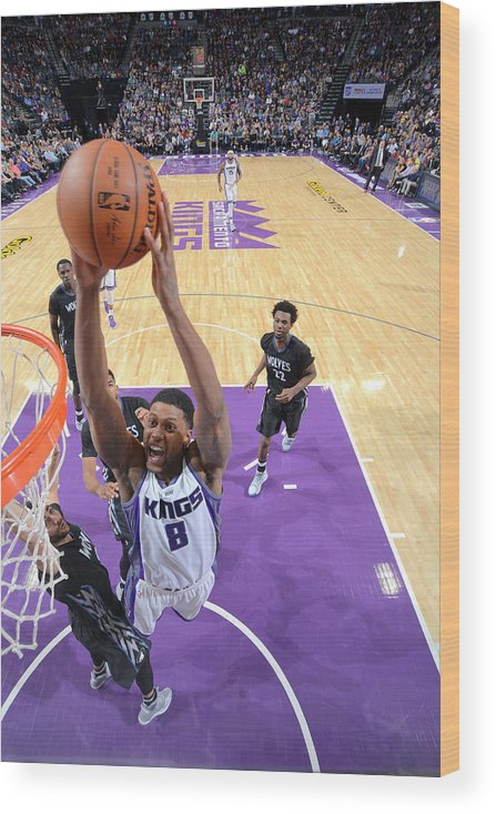 Nba Pro Basketball Wood Print featuring the photograph Rudy Gay by Rocky Widner
