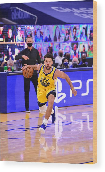 San Francisco Wood Print featuring the photograph Stephen Curry by Noah Graham