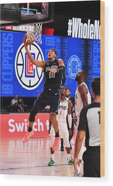 Nba Pro Basketball Wood Print featuring the photograph Aaron Gordon by Jesse D. Garrabrant