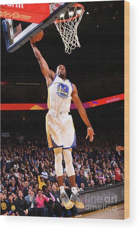 Nba Pro Basketball Wood Print featuring the photograph Andre Iguodala by Noah Graham