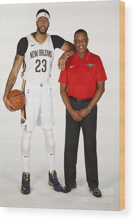 Media Day Wood Print featuring the photograph Anthony Davis by Jonathan Bachman
