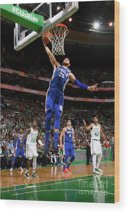 Playoffs Wood Print featuring the photograph Ben Simmons by Brian Babineau