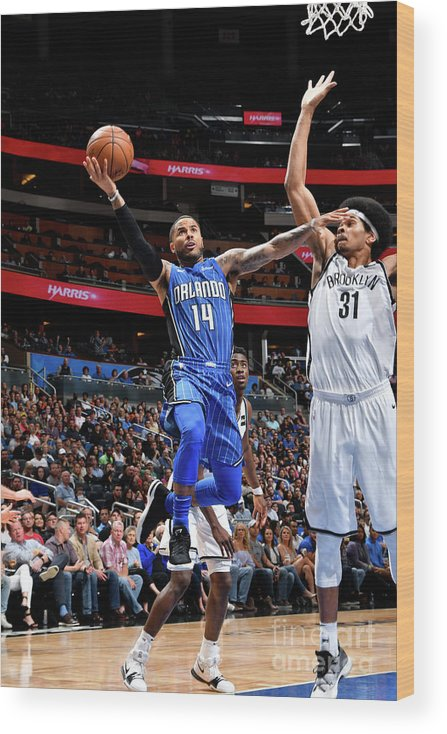 Nba Pro Basketball Wood Print featuring the photograph D.j. Augustin by Fernando Medina