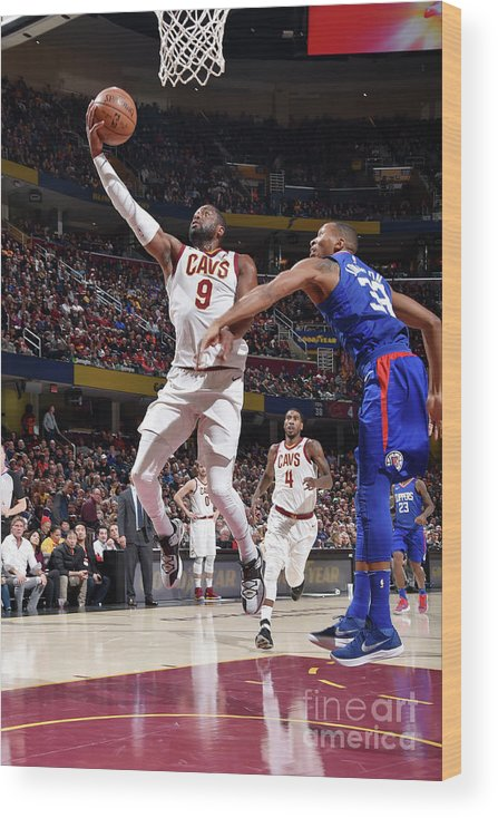Nba Pro Basketball Wood Print featuring the photograph Dwyane Wade by David Liam Kyle