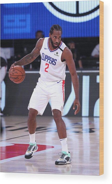 Nba Pro Basketball Wood Print featuring the photograph Kawhi Leonard by Joe Murphy