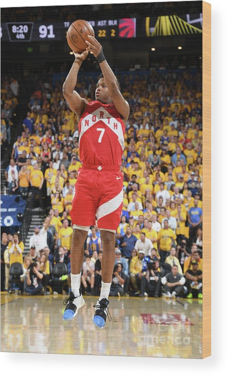 Playoffs Wood Print featuring the photograph Kyle Lowry by Andrew D. Bernstein