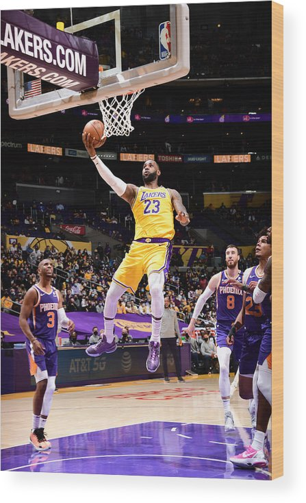 Playoffs Wood Print featuring the photograph Lebron James by Adam Pantozzi