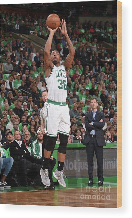 Playoffs Wood Print featuring the photograph Marcus Smart by Brian Babineau