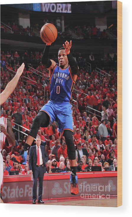 Playoffs Wood Print featuring the photograph Russell Westbrook by Bill Baptist