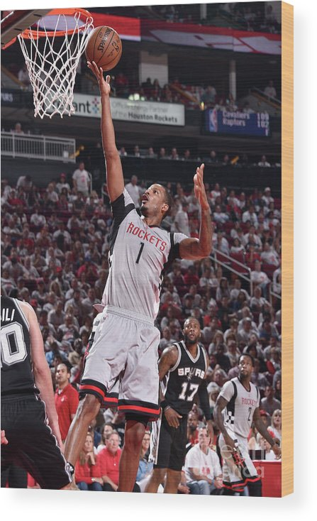 Playoffs Wood Print featuring the photograph Trevor Ariza by Bill Baptist
