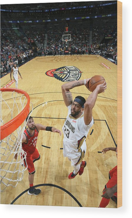Smoothie King Center Wood Print featuring the photograph Anthony Davis by Layne Murdoch Jr.