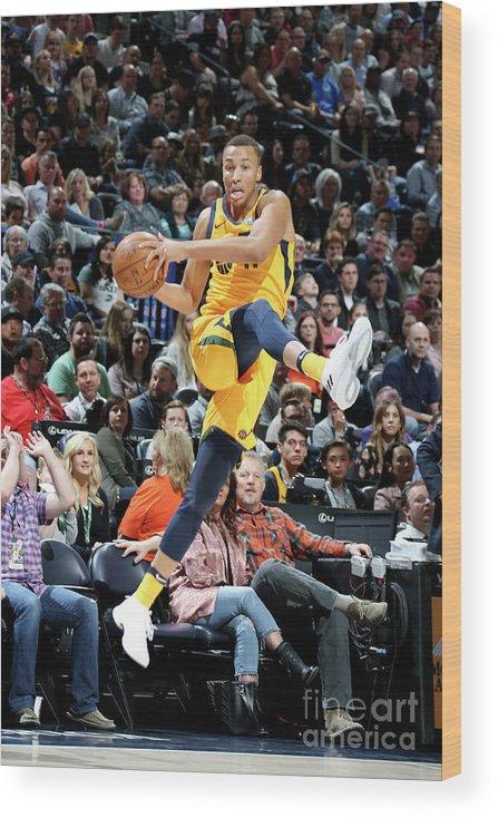 Sports Ball Wood Print featuring the photograph Dante Exum by Melissa Majchrzak