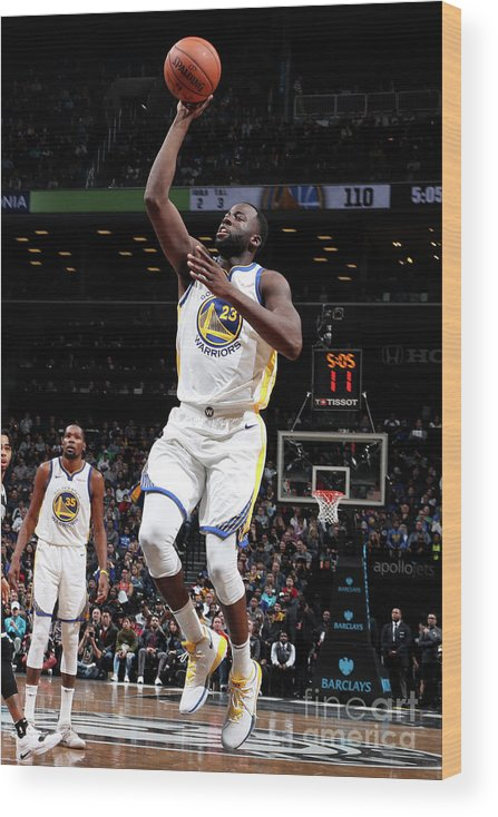 Nba Pro Basketball Wood Print featuring the photograph Draymond Green by Nathaniel S. Butler