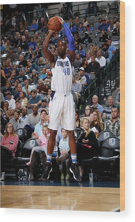 Nba Pro Basketball Wood Print featuring the photograph Harrison Barnes by Glenn James