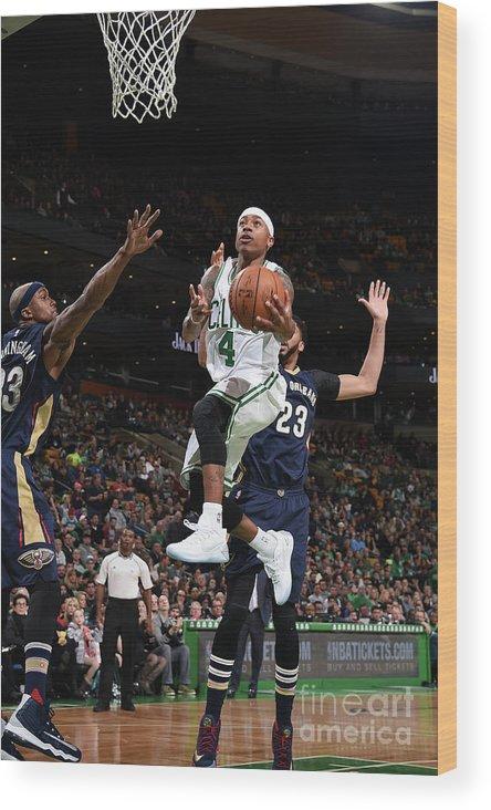 Nba Pro Basketball Wood Print featuring the photograph Isaiah Thomas by Brian Babineau