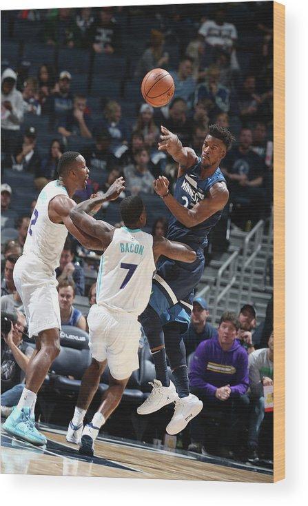 Nba Pro Basketball Wood Print featuring the photograph Jimmy Butler by David Sherman