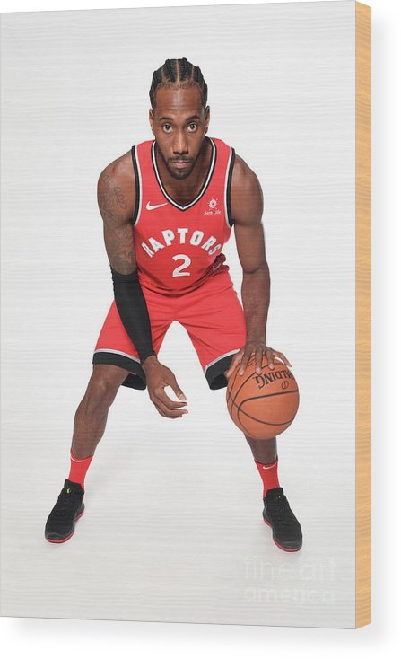 Media Day Wood Print featuring the photograph Kawhi Leonard by Ron Turenne