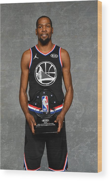 Nba Pro Basketball Wood Print featuring the photograph Kevin Durant by Jesse D. Garrabrant