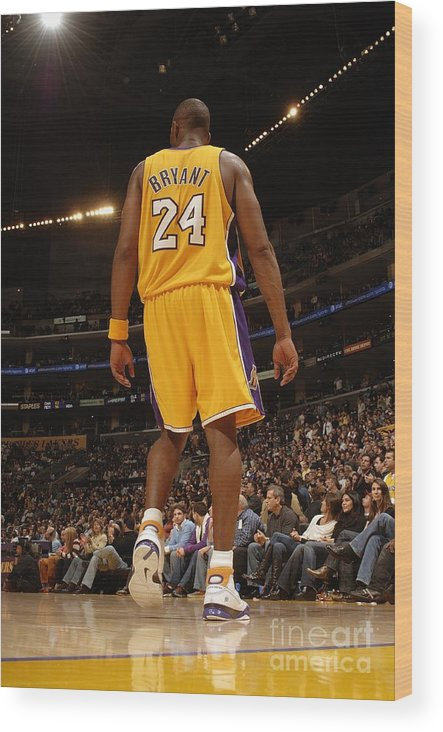 Nba Pro Basketball Wood Print featuring the photograph Kobe Bryant by Andrew D. Bernstein