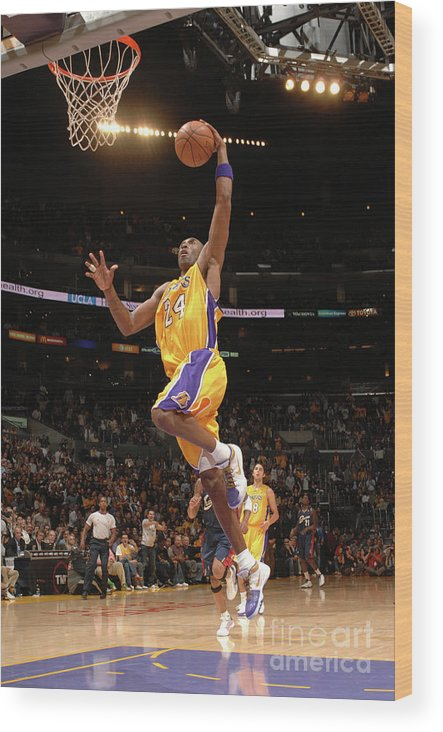 Nba Pro Basketball Wood Print featuring the photograph Kobe Bryant by Noah Graham