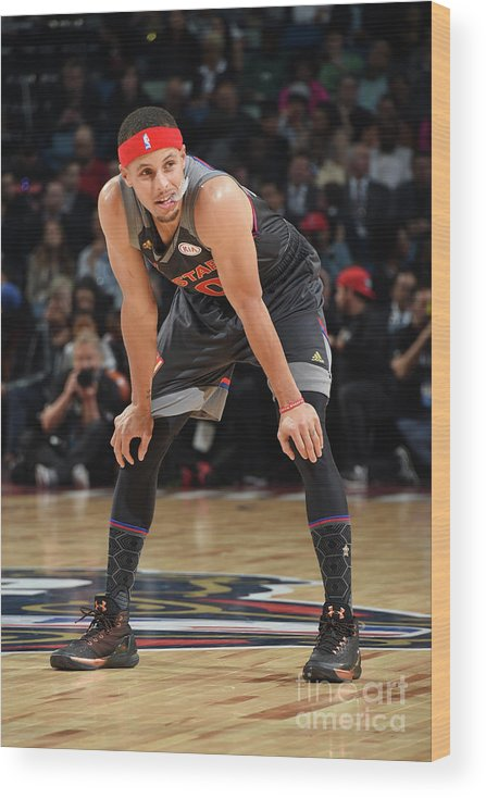 Event Wood Print featuring the photograph Stephen Curry by Andrew D. Bernstein