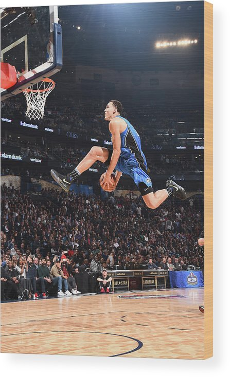 Event Wood Print featuring the photograph Aaron Gordon by Andrew D. Bernstein