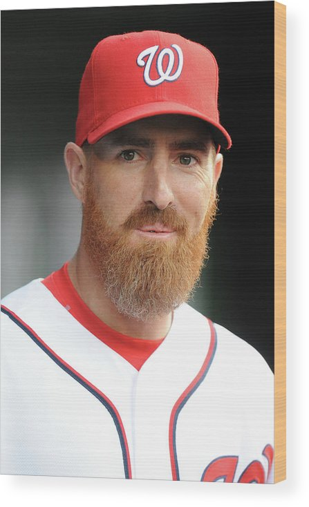 Adam Laroche Wood Print featuring the photograph Adam Laroche by Mitchell Layton