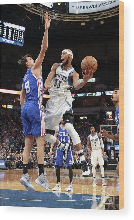 Nba Pro Basketball Wood Print featuring the photograph Adreian Payne by Jordan Johnson