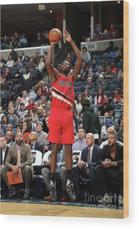 Nba Pro Basketball Wood Print featuring the photograph Al-farouq Aminu by Joe Murphy