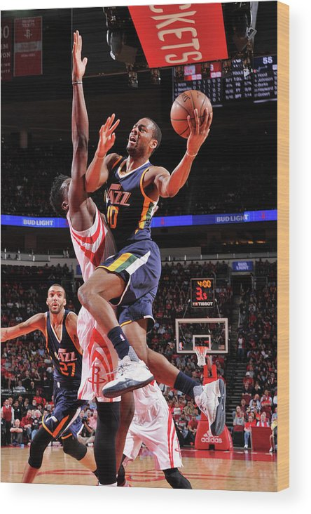 Nba Pro Basketball Wood Print featuring the photograph Alec Burks by Bill Baptist