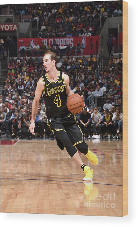 Sports Ball Wood Print featuring the photograph Alex Caruso by Adam Pantozzi