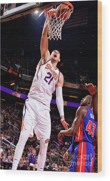 Sports Ball Wood Print featuring the photograph Alex Len by Barry Gossage