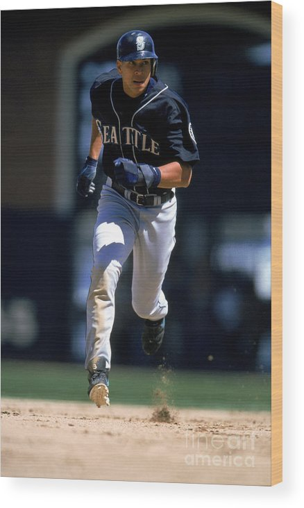 People Wood Print featuring the photograph Alex Rodriguez by Brad Mangin