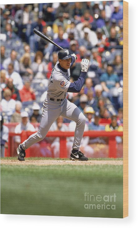 People Wood Print featuring the photograph Alex Rodriguez by John Williamson