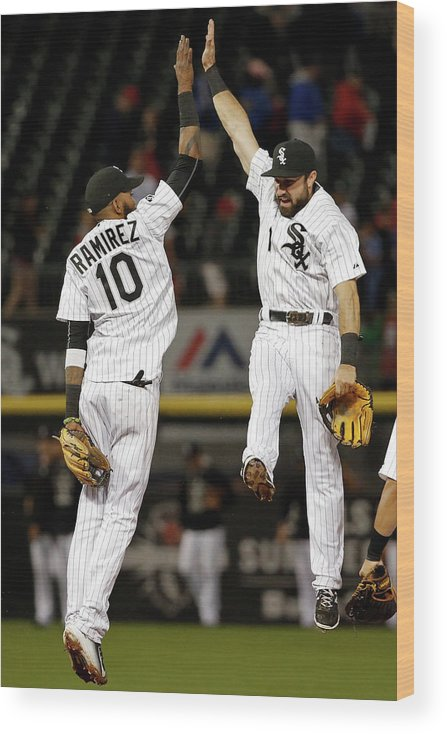 People Wood Print featuring the photograph Alexei Ramirez and Adam Eaton by Jon Durr