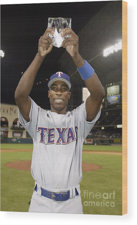 Alfonso Soriano Wood Print featuring the photograph Alfonso Soriano by Rich Pilling