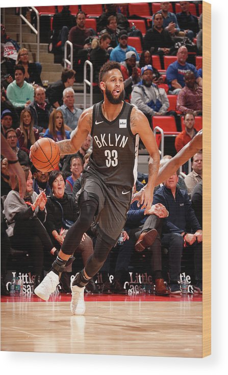 Nba Pro Basketball Wood Print featuring the photograph Allen Crabbe by Brian Sevald