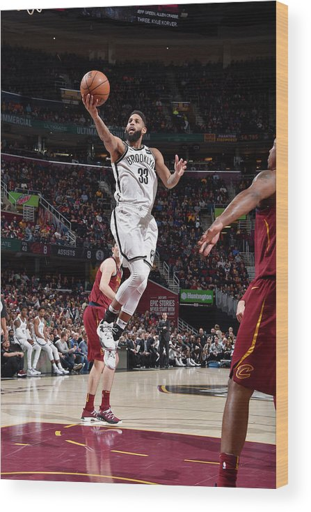 Nba Pro Basketball Wood Print featuring the photograph Allen Crabbe by David Liam Kyle