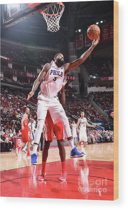 Nba Pro Basketball Wood Print featuring the photograph Amir Johnson by Bill Baptist
