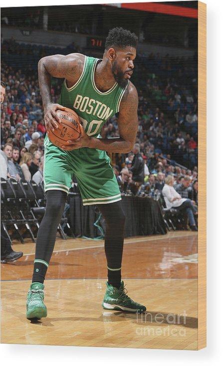 Nba Pro Basketball Wood Print featuring the photograph Amir Johnson by David Sherman