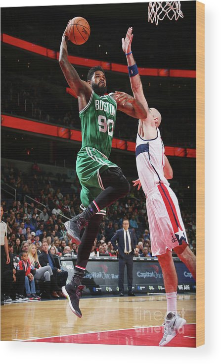 Nba Pro Basketball Wood Print featuring the photograph Amir Johnson by Ned Dishman
