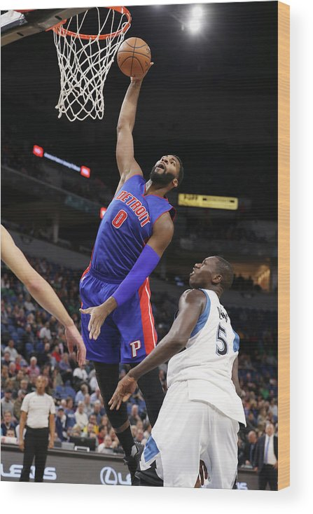 Nba Pro Basketball Wood Print featuring the photograph Andre Drummond by Jordan Johnson
