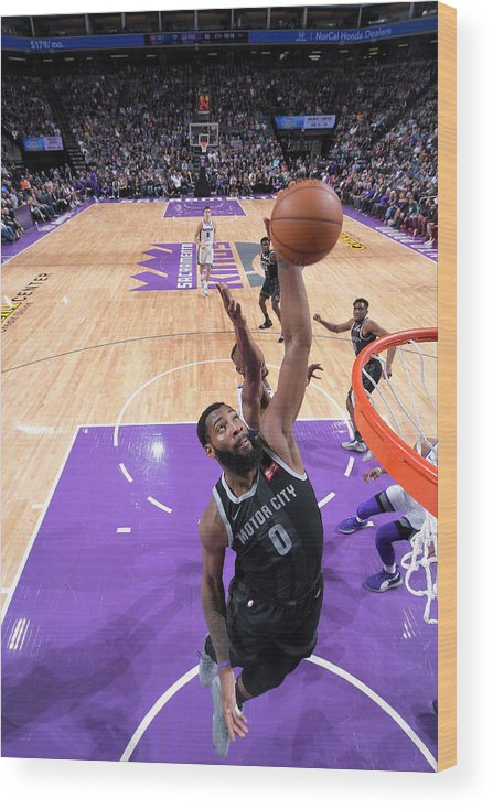 Nba Pro Basketball Wood Print featuring the photograph Andre Drummond by Rocky Widner