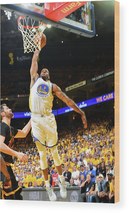 Playoffs Wood Print featuring the photograph Andre Iguodala and Stephen Curry by Jesse D. Garrabrant