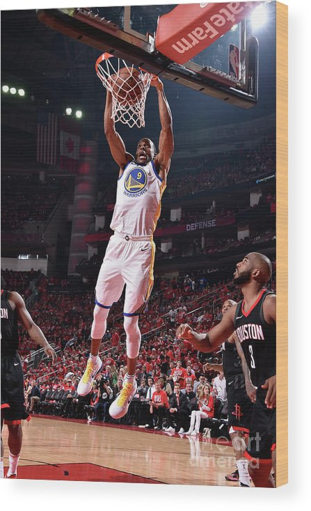 Playoffs Wood Print featuring the photograph Andre Iguodala by Bill Baptist